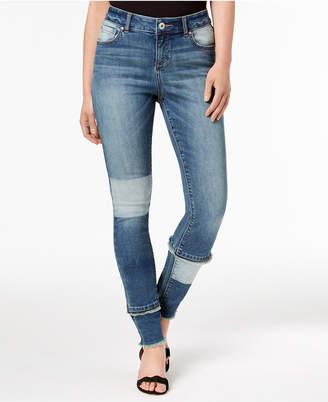 INC International Concepts I.n.c. Curvy-Fit Patchwork Skinny Jeans, Created for Macy's