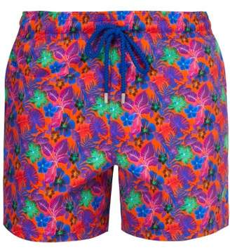 Vilebrequin Moorea Puerto Rico Print Swim Shorts - Mens - Orange Multi