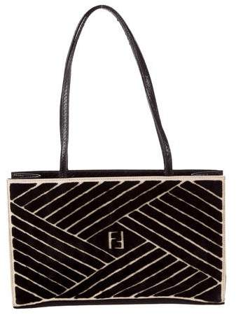 Fendi Snakeskin-Trimmed Shoulder Bag