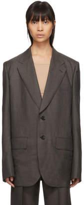 Junya Watanabe Grey Oversized Sharkskin Blazer