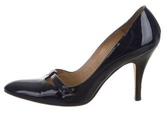 Delman Patent Leather Pointed-Toe Pumps $70 thestylecure.com