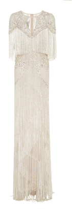 Monique Lhuillier Beaded Fringe Embroidered Gown $37,900 thestylecure.com