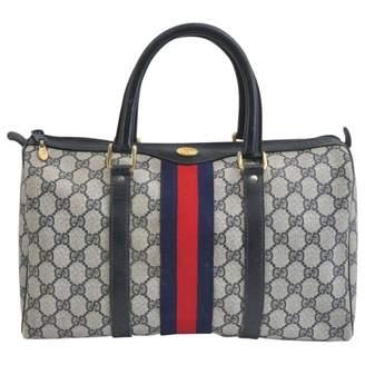 Gucci Boston Navy Cloth Handbags
