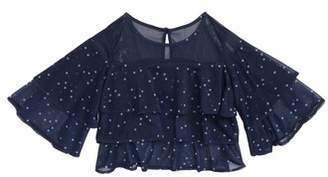 Maddie Star Print Tiered Ruffle Top