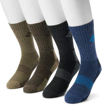 Columbia Extended Size Moisture-Control Performance Crew Socks