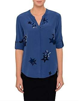 BOSS ORANGE Efelize 12 10203175 01 Star Silk Shirt