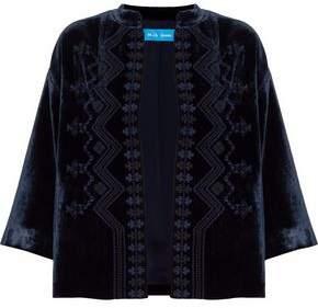 MiH Jeans Embroidered Velvet Jacket
