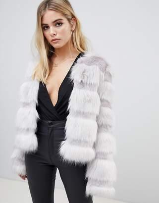 Asos Design DESIGN textured faux fur coat