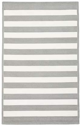 Pottery Barn Teen Capel Cottage Stripe Rug, 3x5, Gray