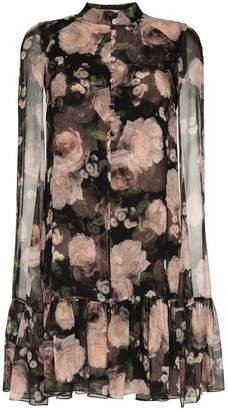 Erdem Constantine rose print silk dress