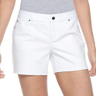 Women's Jennifer Lopez Fray Jean Shorts $44 thestylecure.com