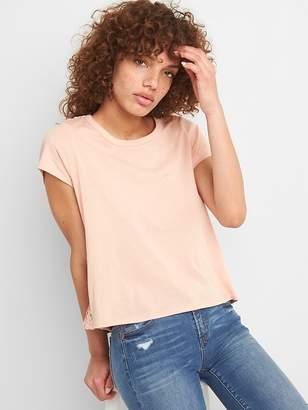 Gap Lace Back Short Sleeve Crewneck T-Shirt