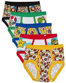 Super Mario Bros. Mario Bros. Boys Underwear, 5 Pack