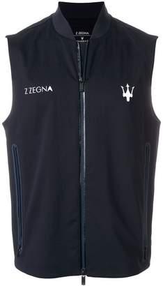 Z Zegna logo zipped gilet