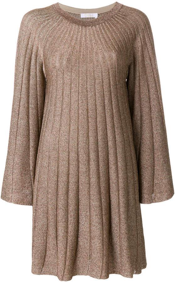 Chloé lurex rib knit dress