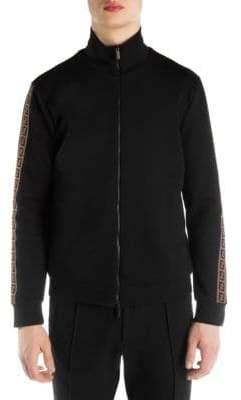 Fendi Zip-Up Cotton Logo Sweatshirt
