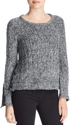 Three Dots Melange Knit Button Sweater