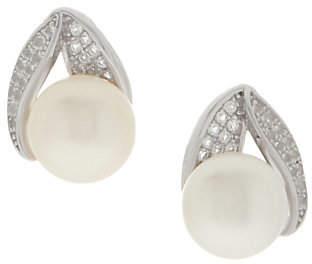Honora Cultured Pearl & White Topaz EarringsSterling