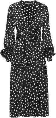 Dalood Plunging V-Neck Dress