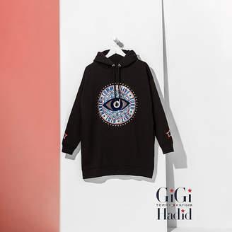 Tommy Hilfiger Sequin Appliqu Hooded Dress Gigi Hadid
