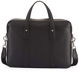 Dunhill Hampstead Leather Document Briefcase, Black