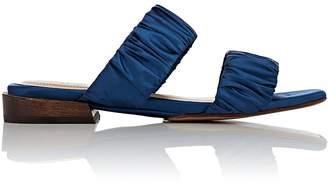 Mari Giudicelli Women's Asami Ruched Satin Slide Sandals
