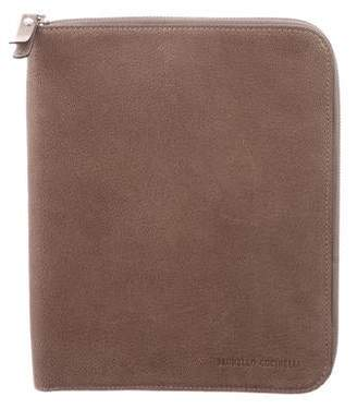 Brunello Cucinelli Leather iPad Mini Case w/ Tags