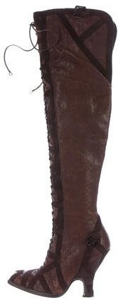 Christian Dior Cannage Over-The-Knee Boots