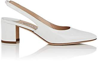 Manolo Blahnik Women's Allurasa Patent Leather Slingback Sandals - White Patent