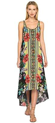 Johnny Was Women's Rayon Tank Dress with Embroidery