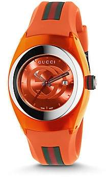Gucci Men's Sync Stainless Steel Rubber Watch