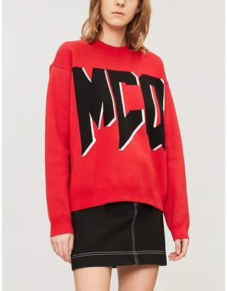McQ Graphic logo-print brushed-cotton jumper