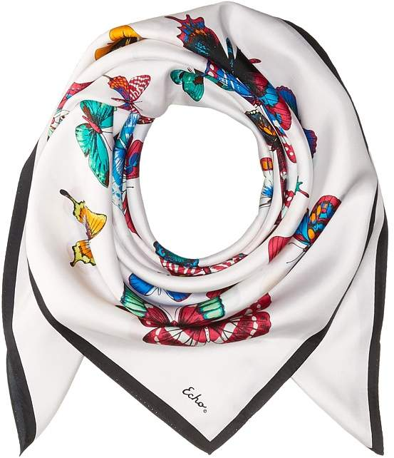 Echo Design - Butterfly Silk Square Scarf Scarves