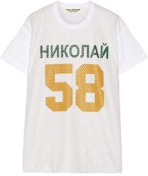 Junya Watanabe Sequined Printed Cotton-Blend T-Shirt