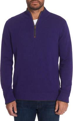 Robert Graham Men's Quarter-Zip Reverse-Cuffs Sweater