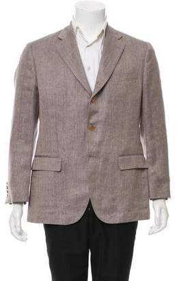 Loro Piana Woven Three-Button Blazer