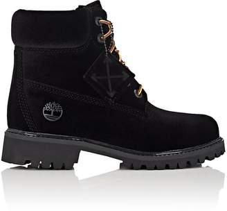 Off-White Women's 6-Inch Velveteen Boots