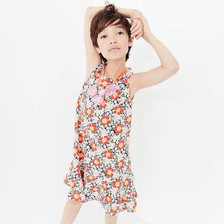 J.Crew Girls' ruffle-hem dress in seventies floral