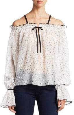 Alice McCall Picture This Dot Off-The-Shoulder Top