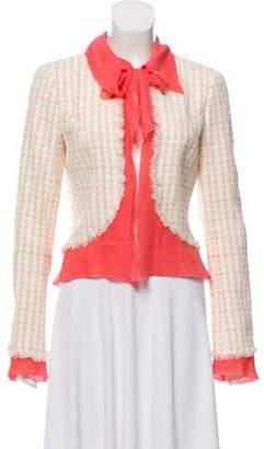 Chanel Silk-Trimmed Tweed Jacket