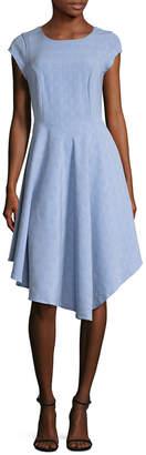 Ava & Aiden Cap Sleeve Asymmetric Dress