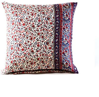 HomeMint Bohemian Paisley Pillow Red