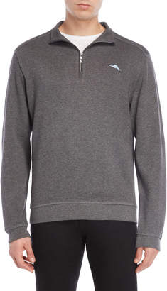 Tommy Bahama Mock Neck Quarter-Zip Pullover