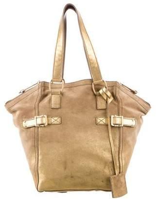 Saint Laurent Metallic Suede Downtown Bag