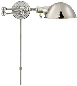 Visual Comfort & Co. Boston Swing Arm - Polished Nickel