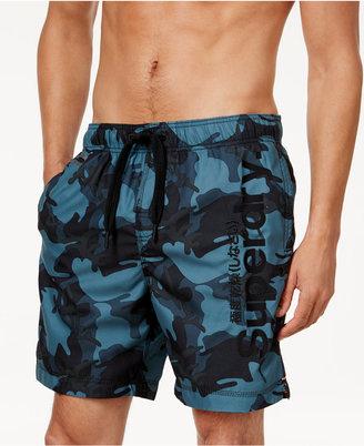 "Superdry Men's Premium Camo 7.3"" Swim Trunks $39.50 thestylecure.com"