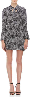 Parker Printed Tie-Neck Dress
