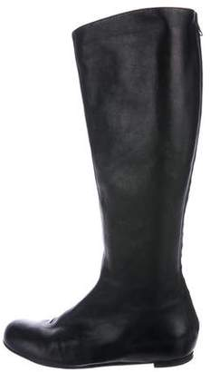 Lanvin Knee-High Leather Boots