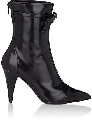 Philosophy di Lorenzo Serafini WOMEN'S BOW-EMBELLISHED SPAZZOLATO LEATHER ANKLE BOOTS