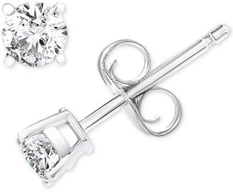 Macy's Diamond Stud Earrings (1/3 ct. t.w.) in 14k White Gold